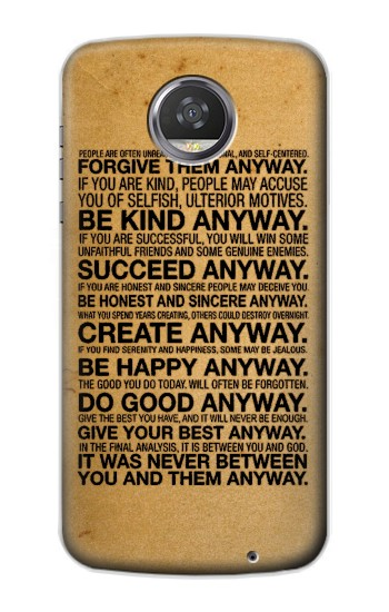 Printed Mother Teresa Anyway Quotes HTC Desire 310 Case