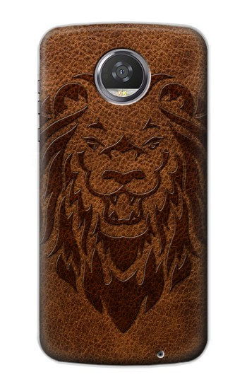 Printed Leo Tattoo Brown Leather HTC Desire 310 Case