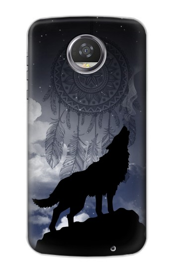 Printed Dream Catcher Wolf Howling HTC Desire 310 Case
