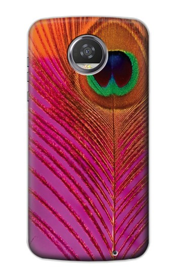 Printed Pink Peacock Feather HTC Desire 310 Case