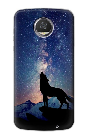 Printed Wolf Howling Million Star HTC Desire 310 Case