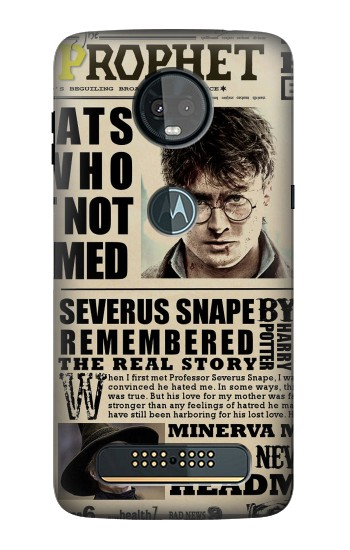 Printed Harry Potter Daily Prophet Motorola Moto Z3, Z3 Play Case