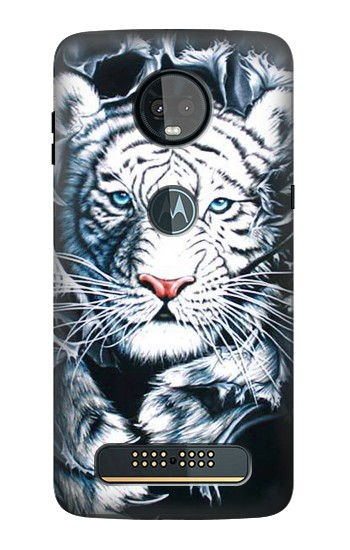 Printed White Tiger Motorola Moto Z3, Z3 Play Case