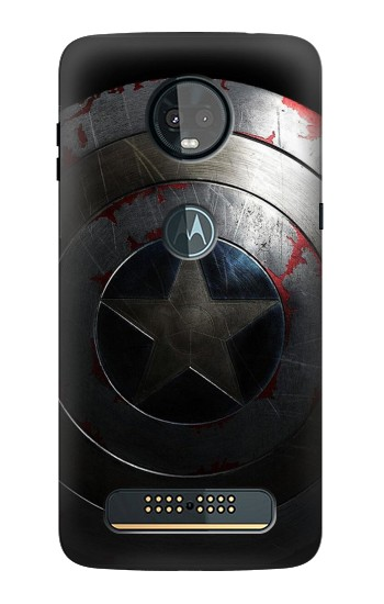 Printed Captain Shield Motorola Moto Z3, Z3 Play Case