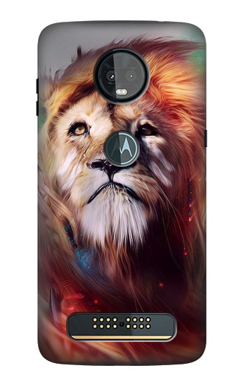 Printed Leo Paint Motorola Moto Z3, Z3 Play Case