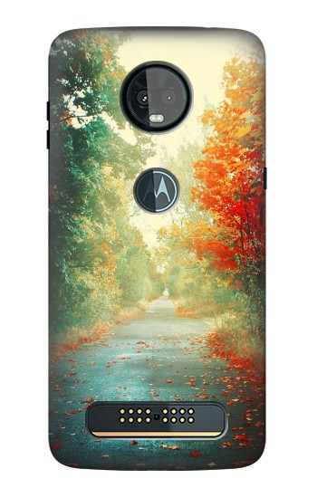 Printed Road Through The Woods Motorola Moto Z3, Z3 Play Case