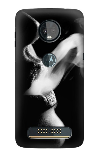 Printed Sexy Lip Girl Smoking Motorola Moto Z3, Z3 Play Case