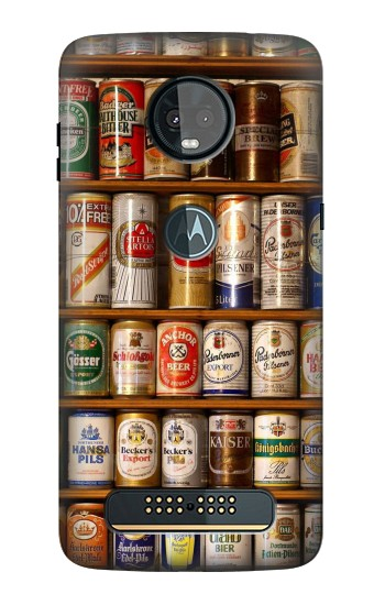 Printed Beer Cans Collection Motorola Moto Z3, Z3 Play Case