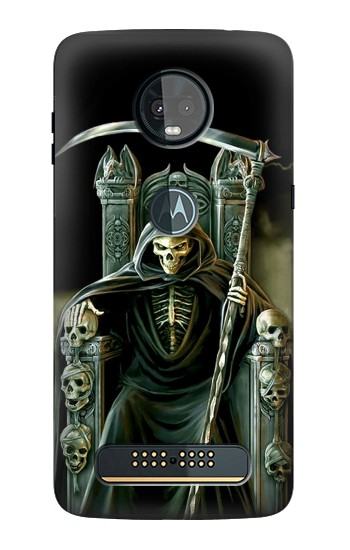 Printed Grim Reaper Skeleton King Motorola Moto Z3, Z3 Play Case
