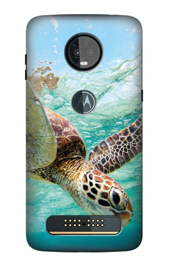 Printed Ocean Sea Turtle Motorola Moto Z3, Z3 Play Case