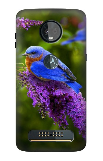 Printed Bluebird of Happiness Blue Bird Motorola Moto Z3, Z3 Play Case