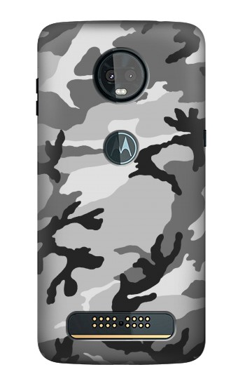 Printed Snow Camo Camouflage Graphic Printed Motorola Moto Z3, Z3 Play Case