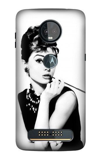 Printed Audrey Hepburn Breakfast at Tiffanys Motorola Moto Z3, Z3 Play Case