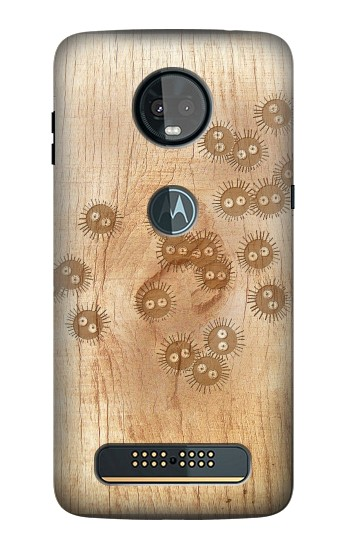 Printed Spirited Away Wood Art Graphic Printed Motorola Moto Z3, Z3 Play Case