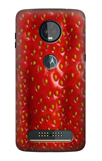 Printed Strawberry Motorola Moto Z3, Z3 Play Case