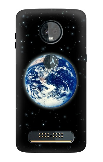Printed Earth Planet Space Star nebula Motorola Moto Z3, Z3 Play Case