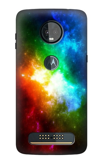 Printed Colorful Rainbow Space Galaxy Motorola Moto Z3, Z3 Play Case