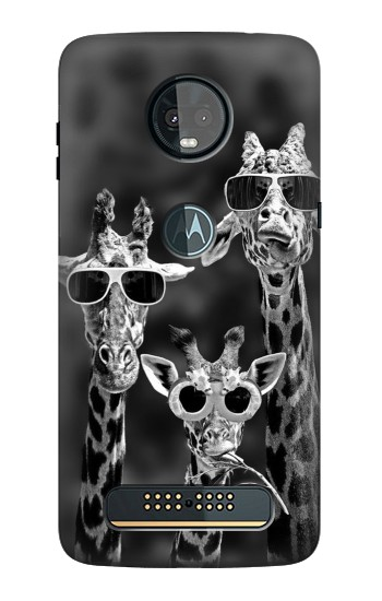 Printed Giraffes With Sunglasses Motorola Moto Z3, Z3 Play Case