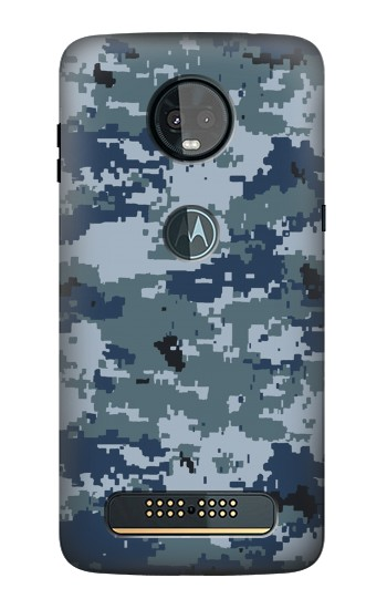 Printed Navy Camo Camouflage Graphic Motorola Moto Z3, Z3 Play Case