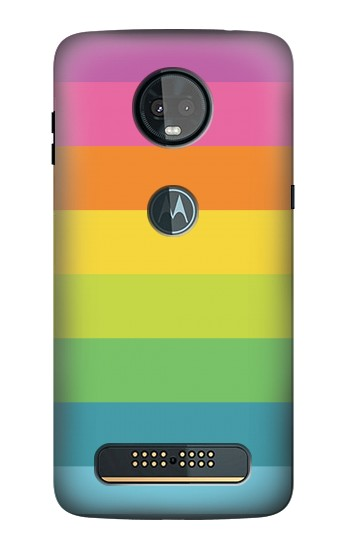 Printed Rainbow Pattern Motorola Moto Z3, Z3 Play Case