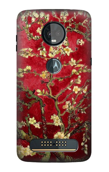 Printed Red Blossoming Almond Tree Van Gogh Motorola Moto Z3, Z3 Play Case