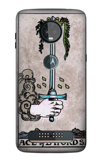 Printed Tarot Ace of Swords Motorola Moto Z3, Z3 Play Case