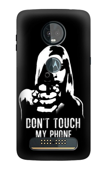 Printed Girl Do Not Touch My Phone Motorola Moto Z3, Z3 Play Case
