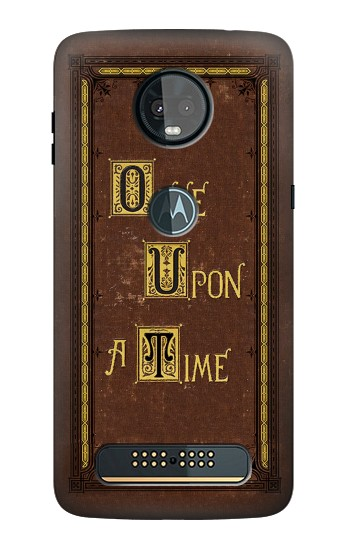 Printed Once Upon a Time Book Cover Motorola Moto Z3, Z3 Play Case