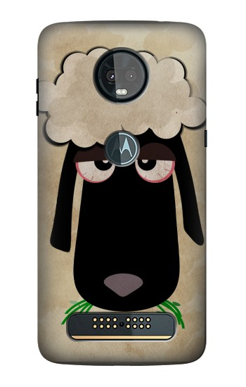Printed Cute Cartoon Unsleep Black Sheep Motorola Moto Z3, Z3 Play Case