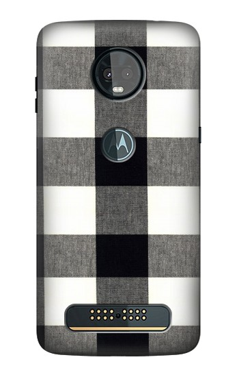 Printed Black and White Buffalo Check Pattern Motorola Moto Z3, Z3 Play Case