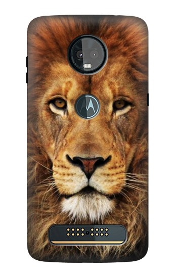 Printed Lion King of Beasts Motorola Moto Z3, Z3 Play Case