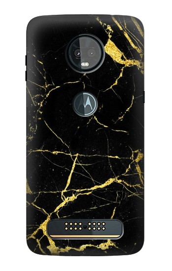 Printed Gold Marble Graphic Printed Motorola Moto Z3, Z3 Play Case