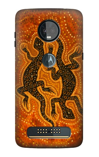Printed Lizard Aboriginal Art Motorola Moto Z3, Z3 Play Case