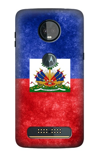 Printed Haiti Flag Motorola Moto Z3, Z3 Play Case