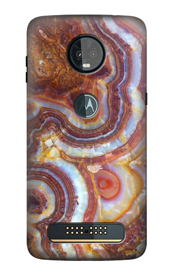 Printed Colored Marble Texture Printed Motorola Moto Z3, Z3 Play Case