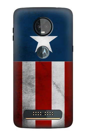 Printed Captain Star Flag of America Motorola Moto Z3, Z3 Play Case