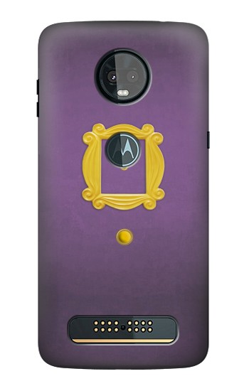 Printed Friends Purple Door Minimalist Motorola Moto Z3, Z3 Play Case