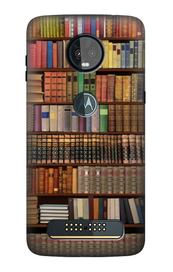 Printed Bookshelf Motorola Moto Z3, Z3 Play Case