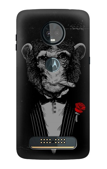 Printed Funny Monkey God Father Motorola Moto Z3, Z3 Play Case