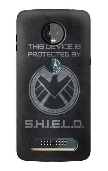 Printed This Device is Protected by Shield Motorola Moto Z3, Z3 Play Case