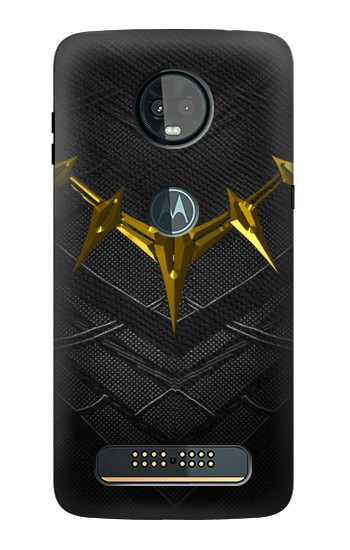 Printed Black Panther Inspired Costume Gold Necklace Motorola Moto Z3, Z3 Play Case