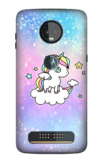 Printed Cute Unicorn Cartoon Motorola Moto Z3, Z3 Play Case