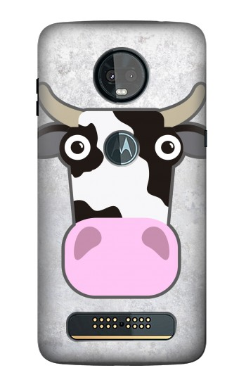 Printed Cow Cartoon Motorola Moto Z3, Z3 Play Case
