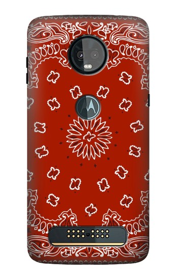 Printed Bandana Red Pattern Motorola Moto Z3, Z3 Play Case