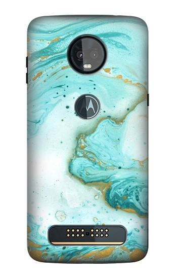 Printed Green Marble Graphic Print Motorola Moto Z3, Z3 Play Case