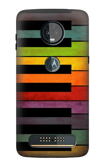 Printed Colorful Piano Motorola Moto Z3, Z3 Play Case