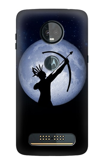 Printed Indian Hunter Moon Motorola Moto Z3, Z3 Play Case