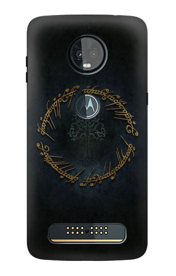 Printed Lord of The Rings Ring Elf Writing Motorola Moto Z3, Z3 Play Case