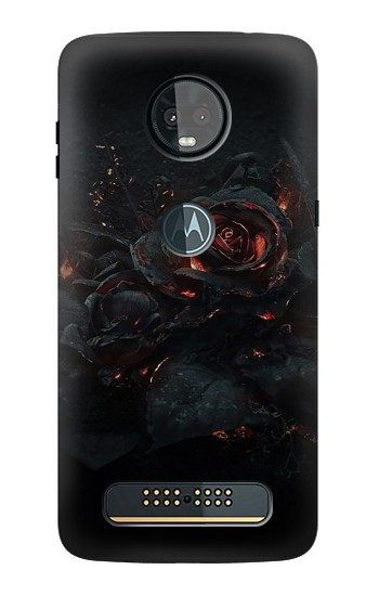 Printed Burned Rose Motorola Moto Z3, Z3 Play Case