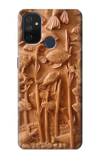 Printed Fish Wood Carving Graphic Printed OnePlus Nord N100 Case